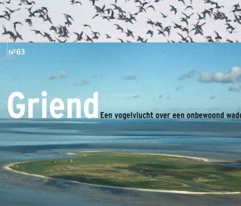 Een vogelvlucht over een onbewoond waddeneiland